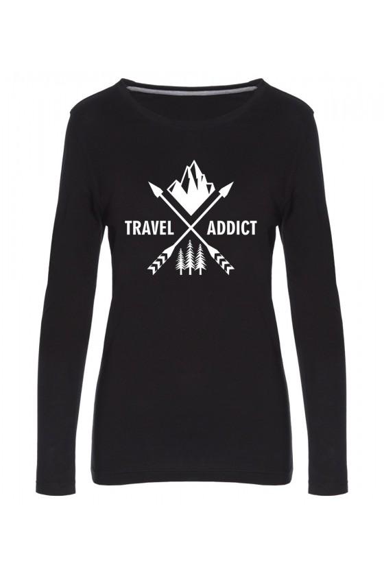 Koszulka Damska Longsleeve Travel Addict