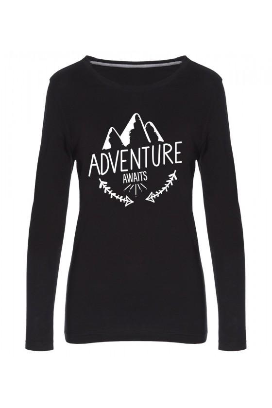 Koszulka Damska Longsleeve Adventure Awaits