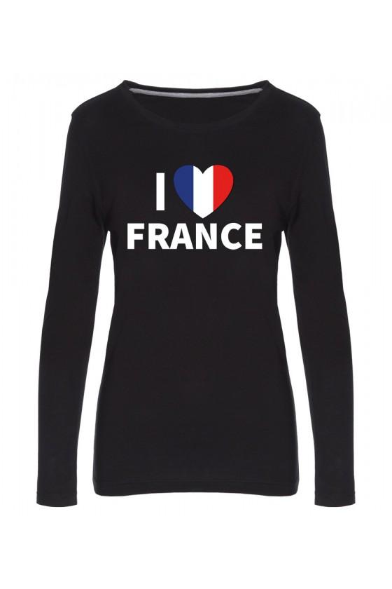 Koszulka Damska Longsleeve I Love France