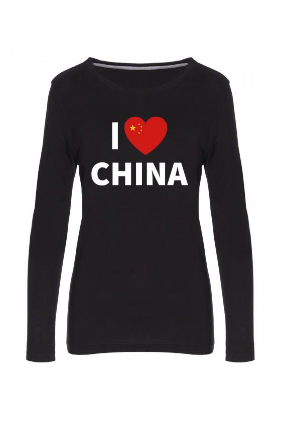 Koszulka Damska Longsleeve I Love China