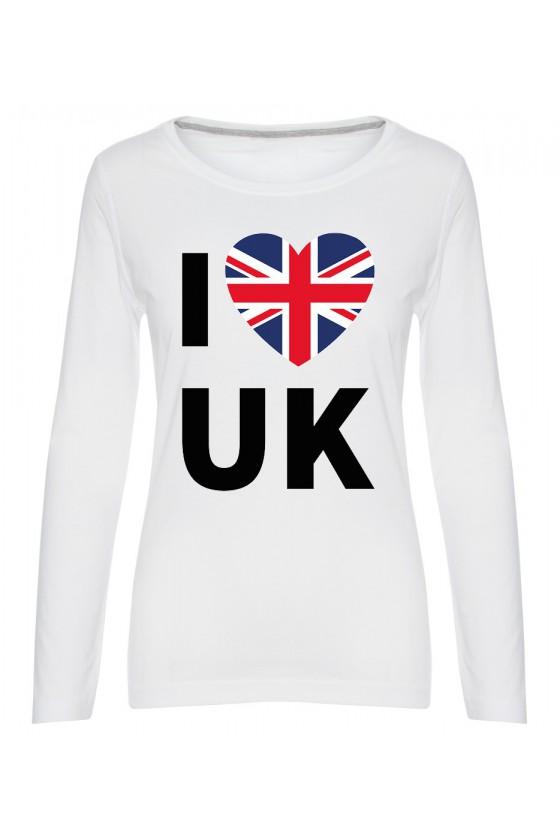 Koszulka Damska Longsleeve I Love UK