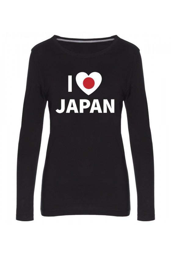 Koszulka Damska Longsleeve I Love Japan