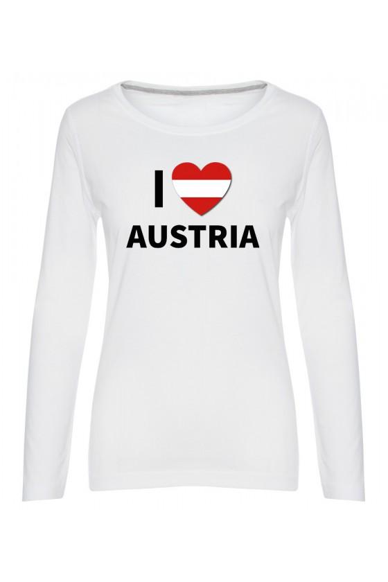 Koszulka Damska Longsleeve I Love Austria