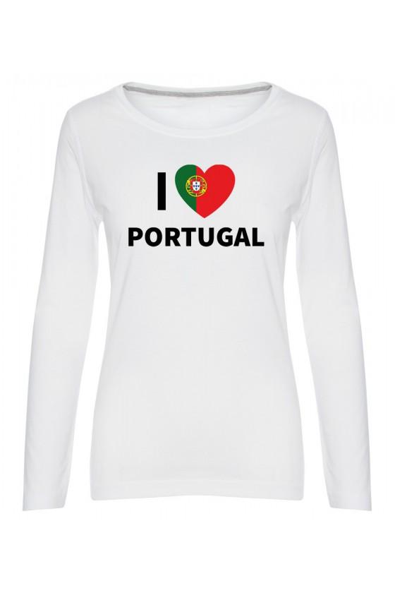 Koszulka Damska Longsleeve I Love Portugal