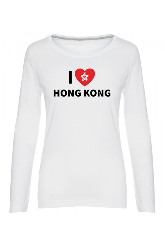 Koszulka Damska Longsleeve I Love Hong Kong