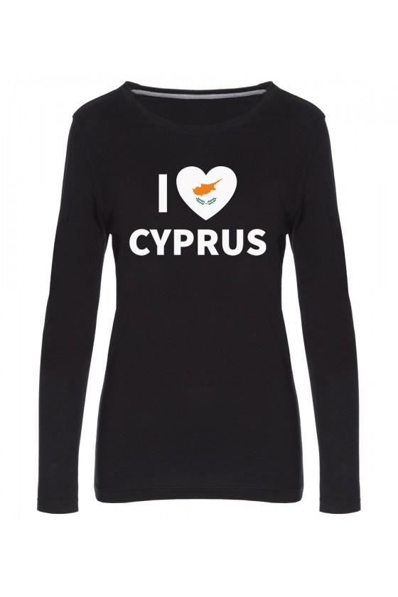 Koszulka Damska Longsleeve I Love Cyprus