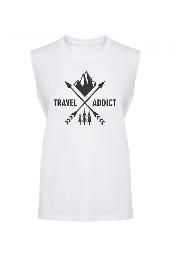 Koszulka Męska Tank Top Travel Addict