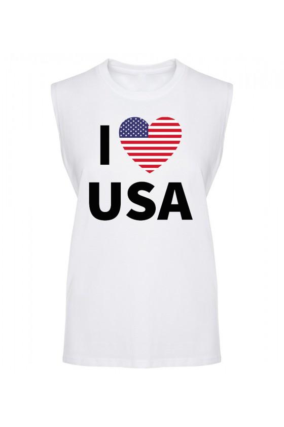 Koszulka Męska Tank Top I Love USA