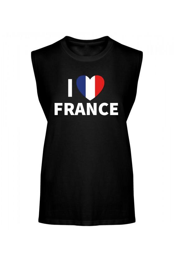 Koszulka Męska Tank Top I Love France