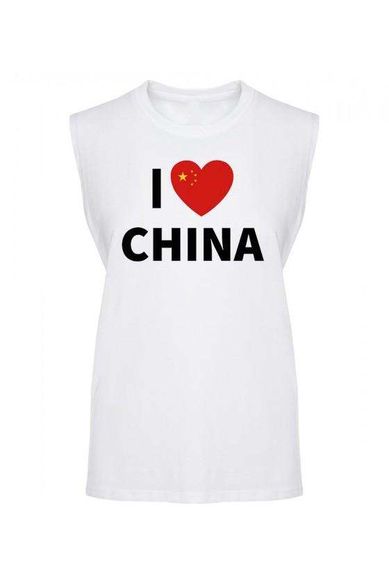 Koszulka Męska Tank Top I Love China