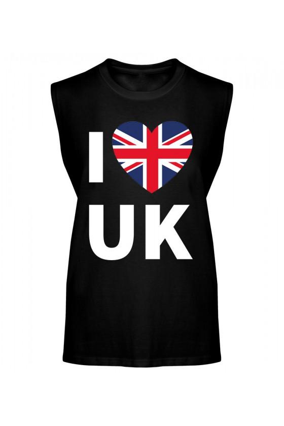 Koszulka Męska Tank Top I Love UK