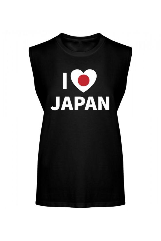 Koszulka Męska Tank Top I Love Japan
