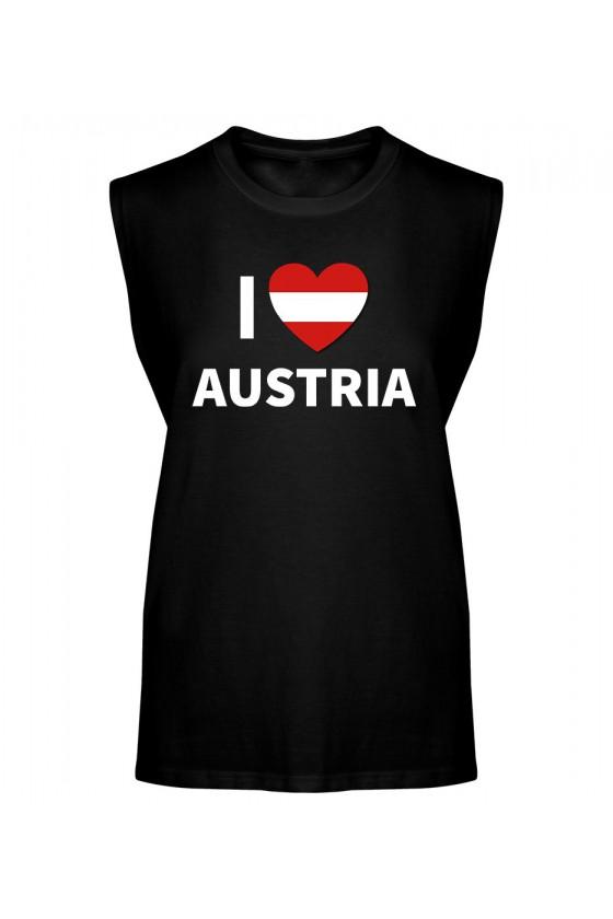 Koszulka Męska Tank Top I Love Austria