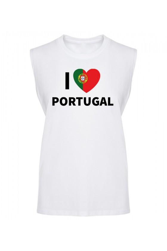 Koszulka Męska Tank Top I Love Portugal