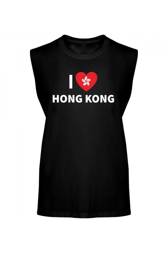 Koszulka Męska Tank Top I Love Hong Kong