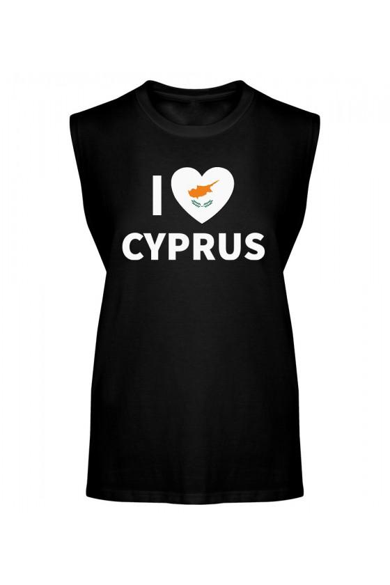 Koszulka Męska Tank Top I Love Cyprus