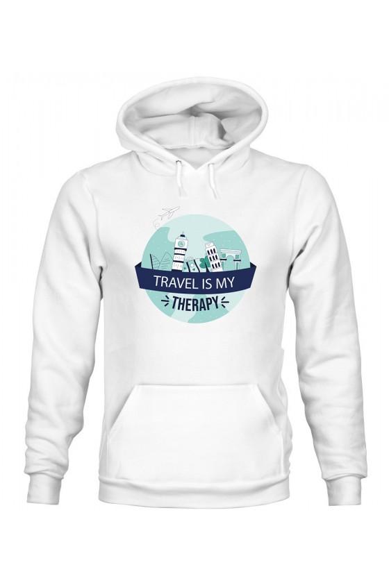 Bluza Męska z Kapturem Travel Is My Therapy II