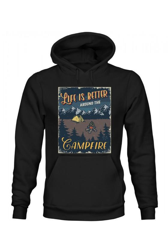 Bluza Męska z Kapturem Life Is Better Around The Campfire