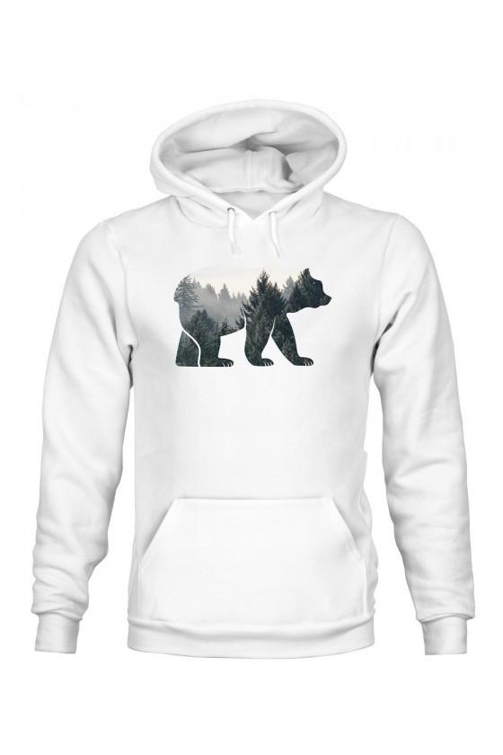 Bluza Męska z Kapturem Niedźwiedź VI
