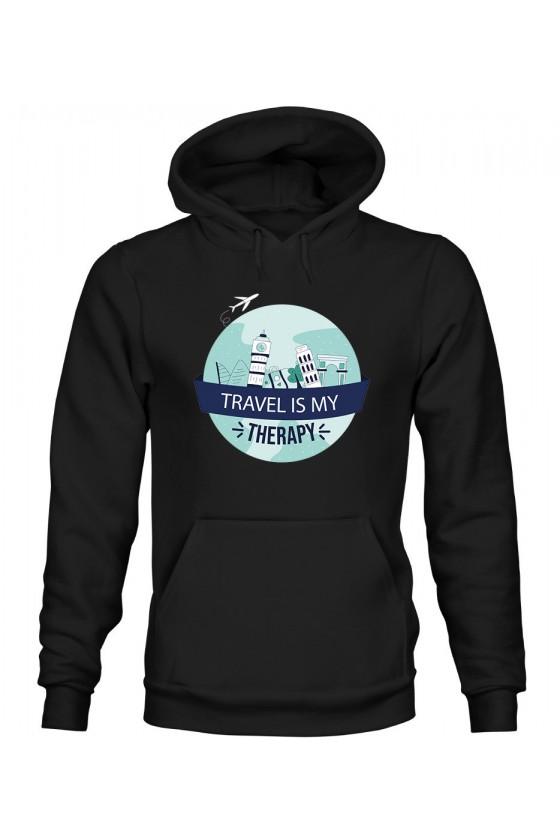 Bluza Damska z Kapturem Travel Is My Therapy II