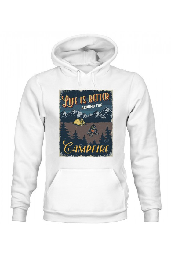 Bluza Damska z Kapturem Life Is Better Around The Campfire