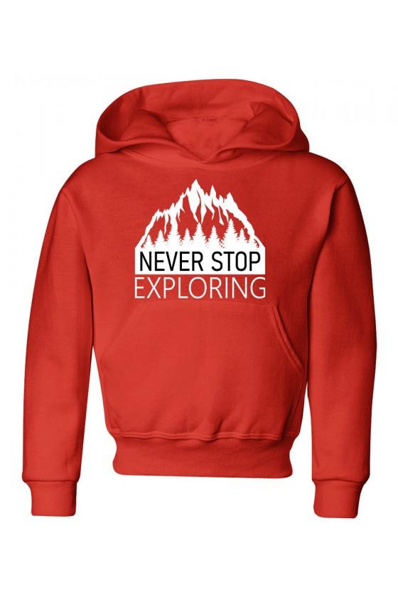 Bluza Dziecięca z Kapturem Never Stop Exploring