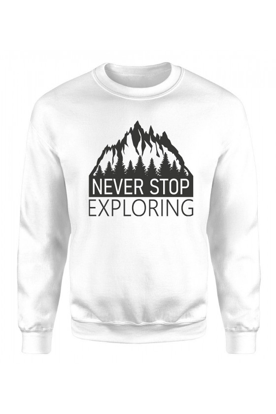 Bluza Męska Klasyczna Never Stop Exploring