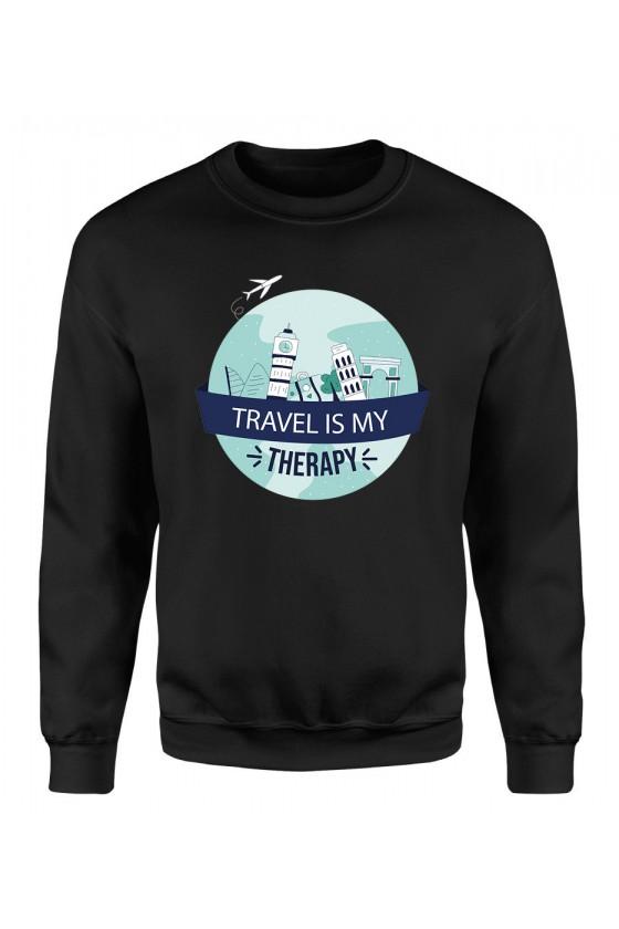 Bluza Damska Klasyczna Travel Is My Therapy II