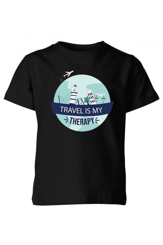 Koszulka Dziecięca Travel Is My Therapy II
