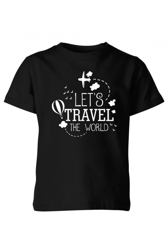 Koszulka Dziecięca Let's Travel The World