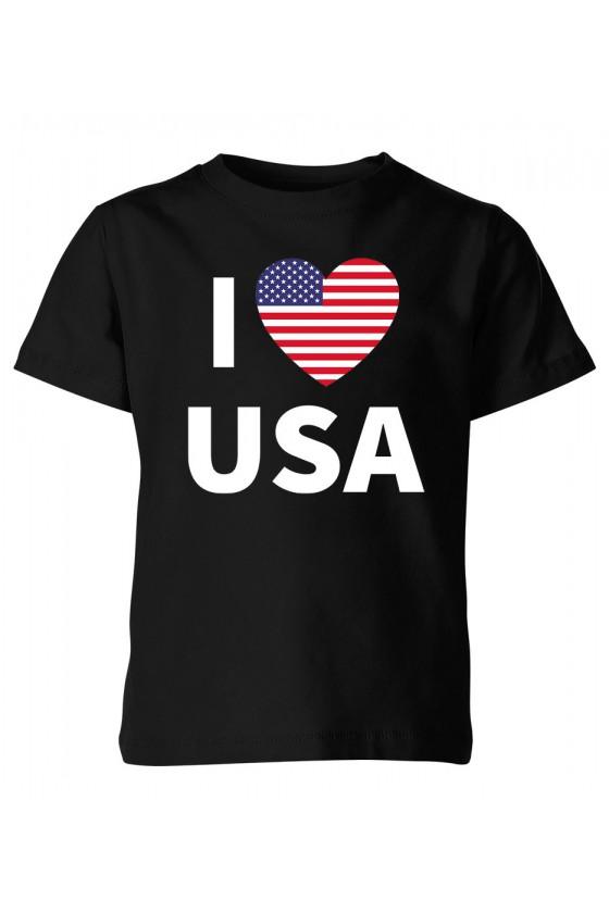 Koszulka Dziecięca I Love USA