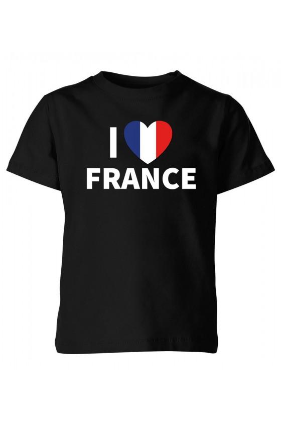 Koszulka Dziecięca I Love France