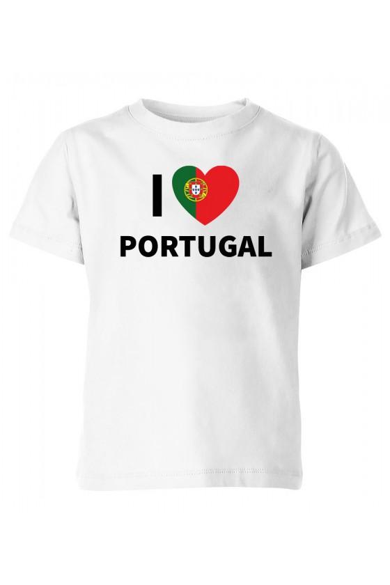 Koszulka Dziecięca I Love Portugal