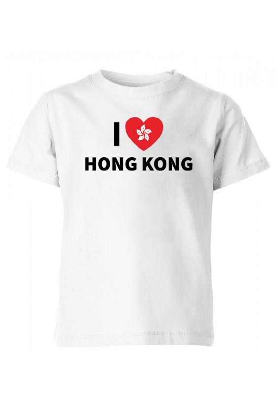 Koszulka Dziecięca I Love Hong Kong